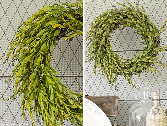 Faux DIY Boxwood Wreath