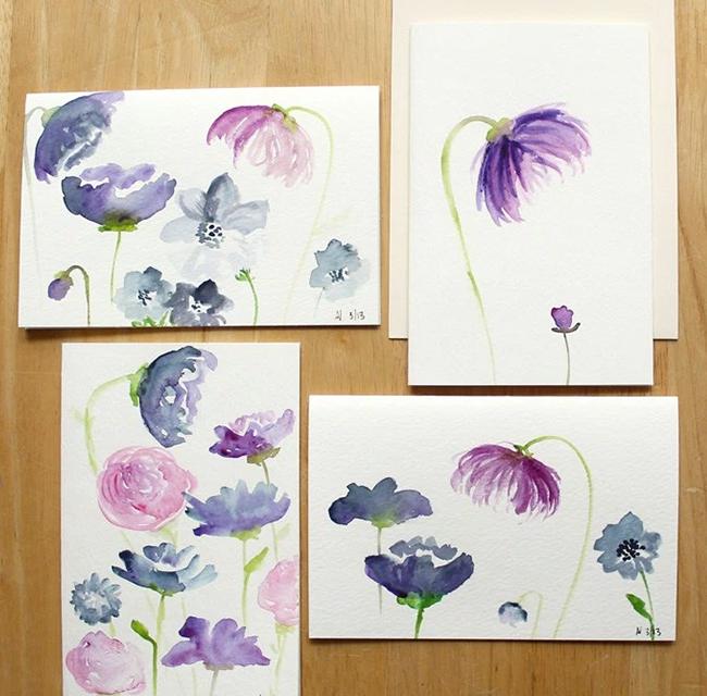 DIY Watercolor Flowers Tutorial