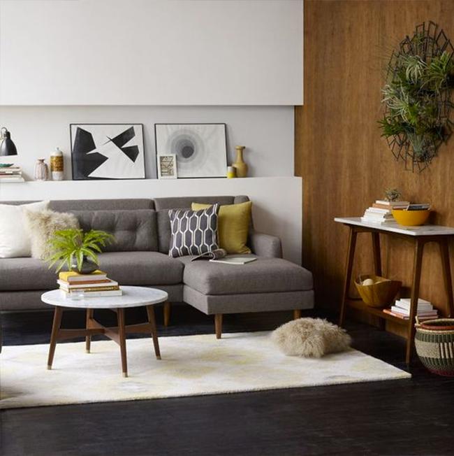 Mid-Century Inspired Living Room