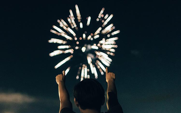 Fireworks Show at Miller Lite Racetrack Grandstand Sacramento