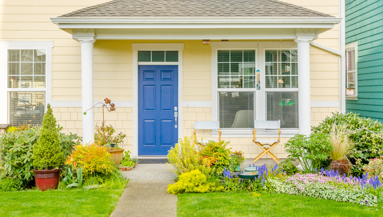 painting your front door bold colors