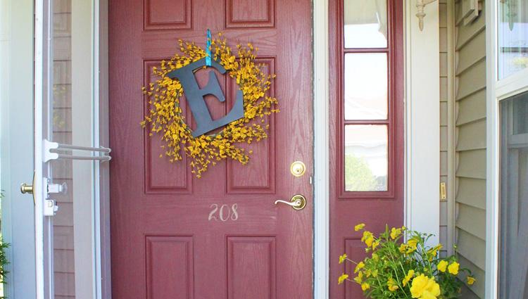 Letter on front door