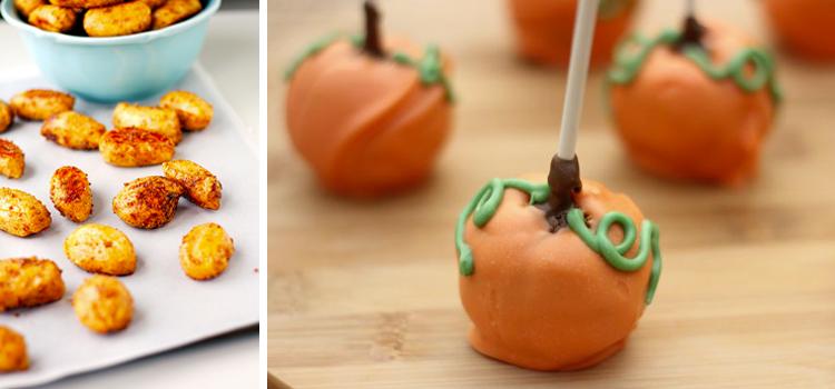 Cinnamon and Sugar Pumpkin Pretzel Bites and Pumpkin Cake Pops