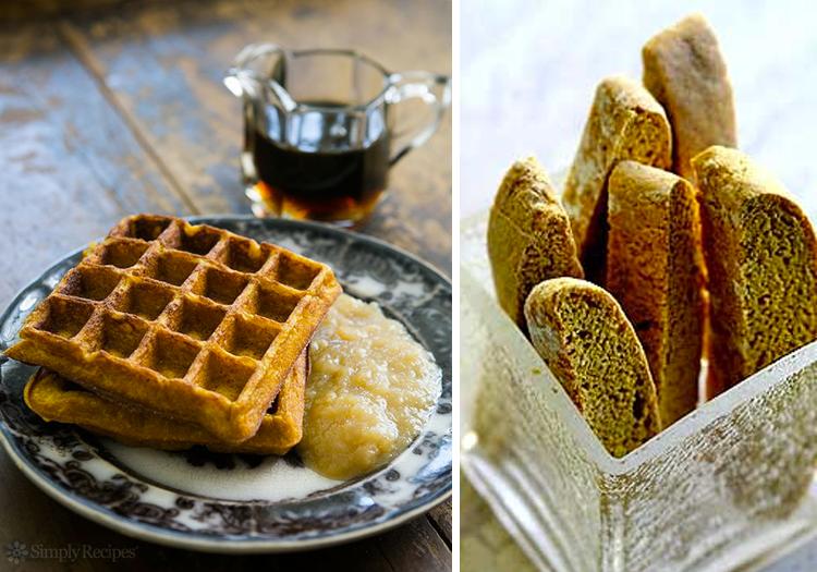 Simply Recipes Pumpkin Waffles and Pumpkin Biscotti