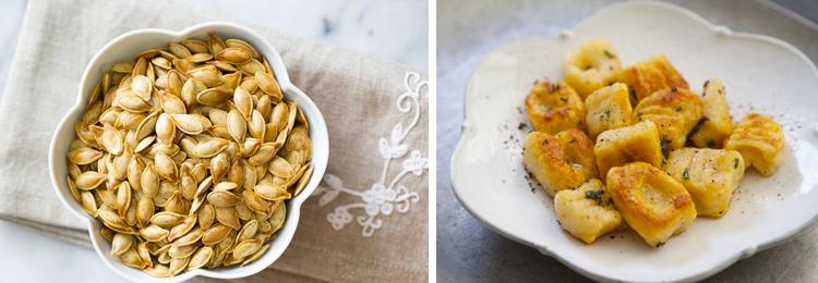 Simply Recipes Roasted Pumpkin Seeds and Pumpkin Ricotta Gnocchi