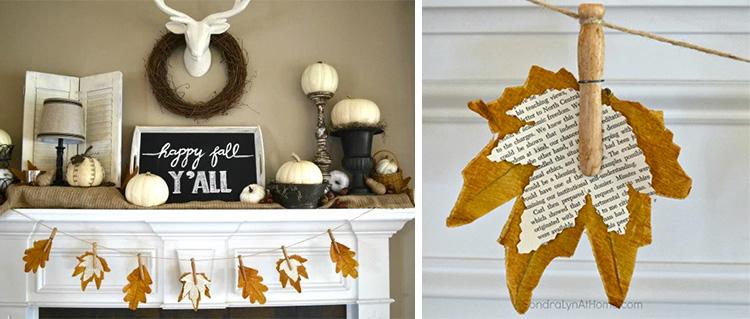 DIY Fall Mantel Home Decor