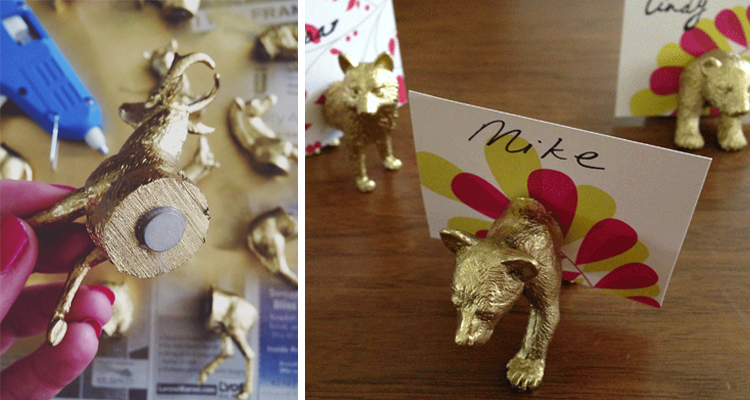 DIY Gold Animal Placeholders