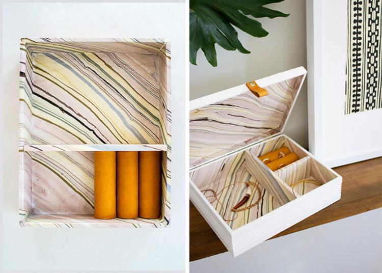 DIY Marbled Jewelry Box