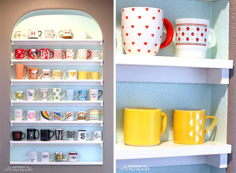 DIY Mug Collection Display Shelves