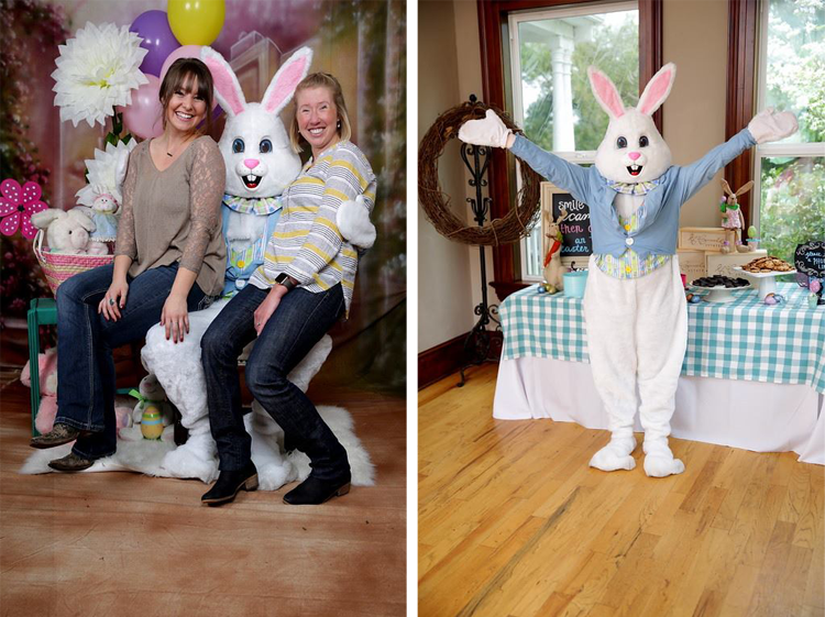 Pictures With the Easter Bunny at McConnell Estates Elk Grove, CA