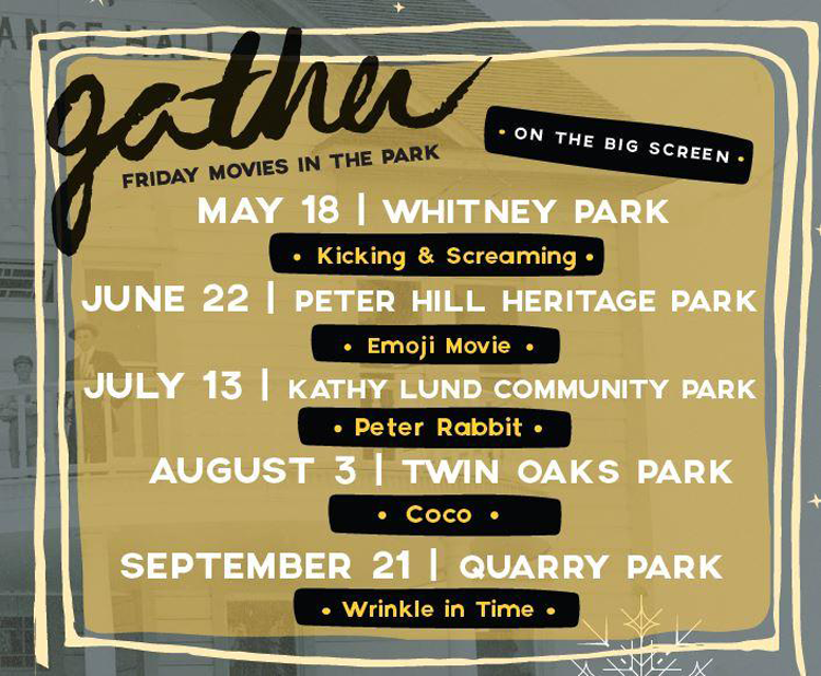 GATHER: Movie in the Park Rocklin, CA
