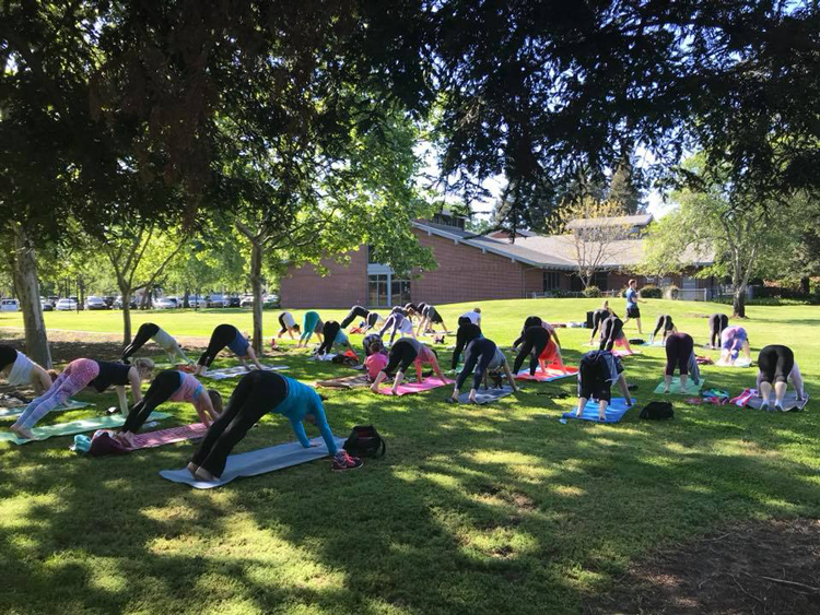 Yoga in the Park at Maidu Park Roseville, CA