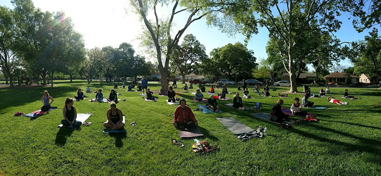 Yoga in the Park at Tahoe Park Sacramento