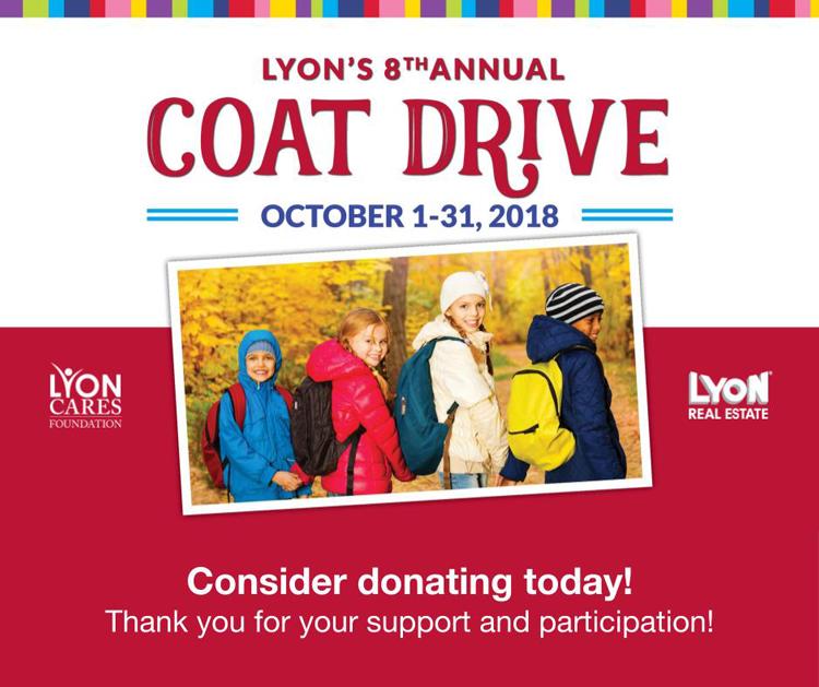 Lyon Real Estate Coat Drive 2018