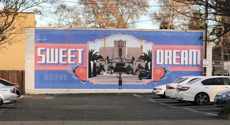 Sweet Dream Mural Sacramento