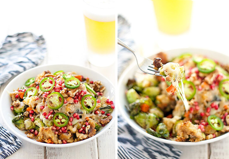 Thanksgiving Brussels Sprouts Nachos | Best Friends For Frosting