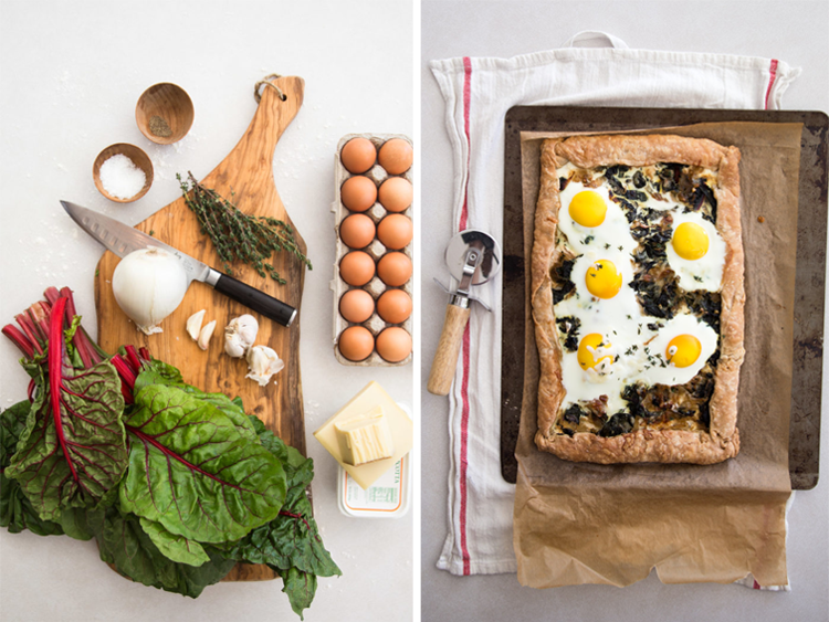 Swiss Chard Slab Galette With Eggs | Hither and Thither