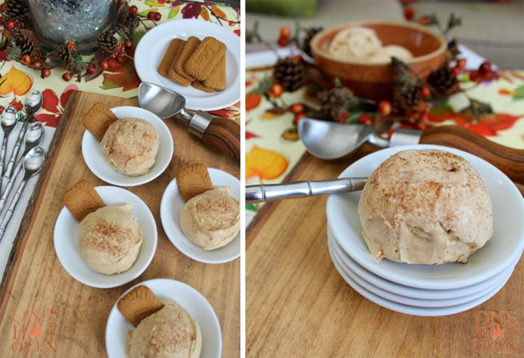 Pumpkin Spiced Latte Ice Cream | One Hot Oven