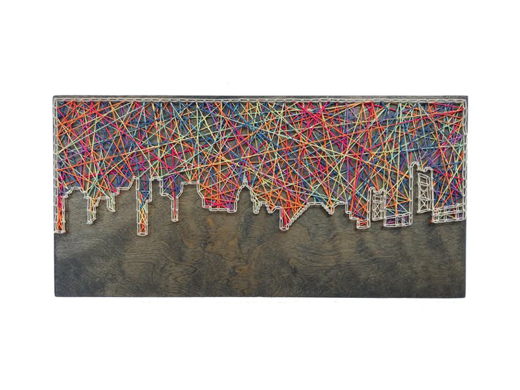 Sacramento Skyline String Art By Cactus Custom Designs