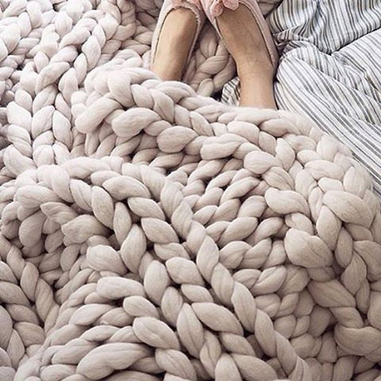Super Chunky Knit Blanket By Kozy Kat Designs