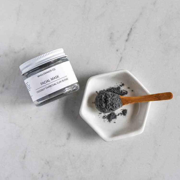 Charcoal + Rosehip Clay Mask By Wholemaker Co.