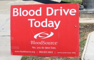 Sign Elk Grove Blood Drive 2014 003